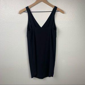 BANANA REPUBLIC LBD MINI LINNED BLACK TANK DRESS